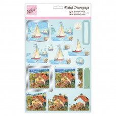 Anita's Foiled Decoupage - Sail Away