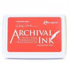 Ranger Archival Ink Pad - Carnation Red