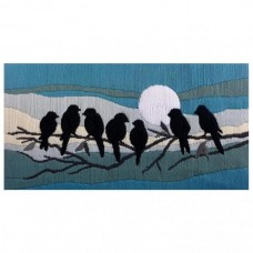 Country Threads Long Stitch Kit - SILOUETTE BIRDS 53X30CM
