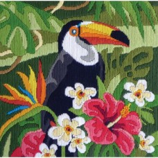 Country Threads Long Stitch Kit - Tropical Toucan