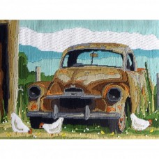 Country Threads Long Stitch Kit - OLD UTE 40X30CM