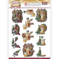 Couture Creations 3D Diecut Decoupage kit - Yvonne Creations - Good old days - Whiskey