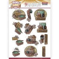 Couture Creations 3D Diecut Decoupage kit - Yvonne Creations - Good old days - Suitcase