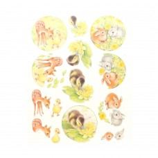 Couture Creations 3D Diecut Decoupage kit - Jeanine's Art - Young Animals - Ducklings and Rabbits