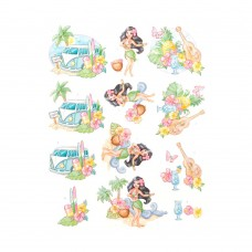 Couture Creations 3D Diecut Decoupage kit - Yvonne Creations - Happy Tropics - Tropical Holiday