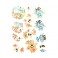 Couture Creations 3D Diecut Decoupage kit - Jeanine's Art - Buzzing Bees - Working Bees
