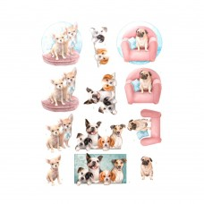 Couture Creations 3D Diecut Decoupage kit - Amy Design - Dog's Life - All kind of Dogs