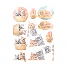 Couture Creations 3D Diecut Decoupage kit - Amy Design - Cats World - Kittens