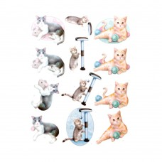 Couture Creations 3D Diecut Decoupage kit - Amy Design - Cats World - Playing Cats