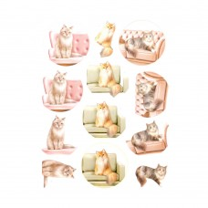 Couture Creations 3D Diecut Decoupage kit - Amy Design - Cats World - Show Cats