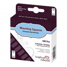 3L Adhesive - Mounting Squares - Clear Half Size Permanent (500pc)