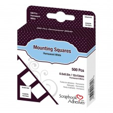 3L Adhesive - Mounting Squares - White Permanent (500pc)