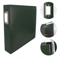 Couture Creations Album - Classic Superior Leather D-Ring Album - Forest Green