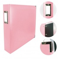 Couture Creations Album - Classic Superior Leather D-Ring Album - Baby Pink