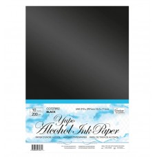 Couture Creations Yupo Paper - Black A4 - 200gsm (10 sheets per pack)