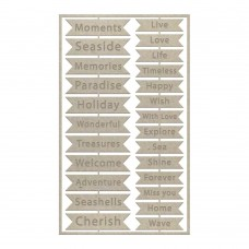 Couture Creations Chipboard - SM - Seaside Sentiments Set