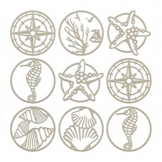 Couture Creations Chipboard - SM - Seaside Charms Set