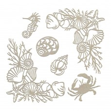 Couture Creations Chipboard - SM - Seafloor Corners & Silhouettes Set