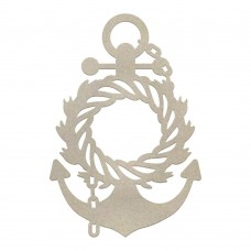 Couture Creations Chipboard - SM - Wreathed Anchor