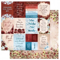 Couture Creations Blooming Friendship Paper - 12 x 12in Double Sided - Sheet 5 (5pc)