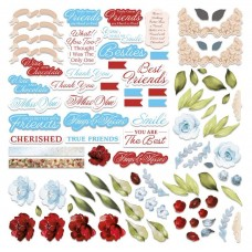 Couture Creations Blooming Friendship Diecut Ephemera Set - (58pc) assorted sizes