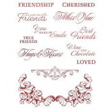 Couture Creations Blooming Friendship Stamps Cherished Friends (12pc)