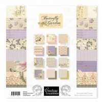 Couture Creations Paper Pad - 12 x 12 - Butterfly Garden