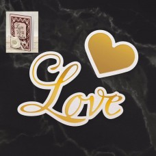 Couture Creations Dazzlia Cut Foil and Emboss Die Set - Love & Heart