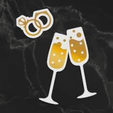 Couture Creations Dazzlia Cut Foil and Emboss Die Set - Raise a Glass