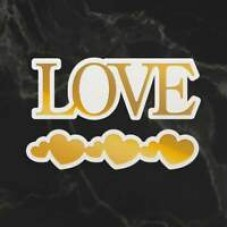 Couture Creations Dazzlia Cut Foil and Emboss Die Set - Love & Heart Border