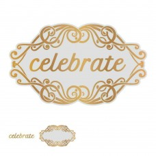 Couture Creations Gentleman's Emporium - Cut Foil & Emboss Die Celebrate Tag