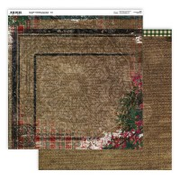 Couture Creations Highland Christmas Paper - 12 x 12 - Sheet 3 Double Sided