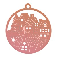 Couture Creations Highland Christmas - Mini Die - Small Town Tag (1pc)