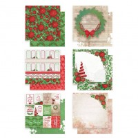 "Couture Creations Merry Little Christmas 12x12"" Paper Pack - 12pcs"