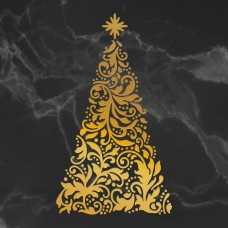 Couture Creations Naughty or Nice - Hotfoil Stamp - Ornate Christmas Tree (1pc)