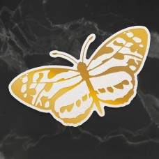 Couture Creations Peaceful Peonies Cut, Foil & Emboss Die - Spotted Butterfly (1pc) - 80 x 43mm