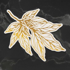 Couture Creations Peaceful Peonies Cut, Foil & Emboss Die - Leafy Branch (1pc)
