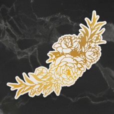 Couture Creations Peaceful Peonies Cut, Foil & Emboss Die - Peony Bouquet