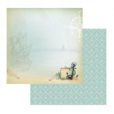 Couture Creations Sea Breeze Patterned Paper Bottom of the Sea