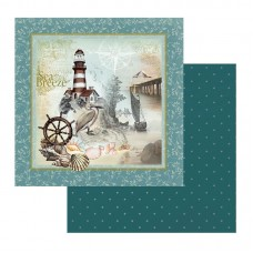 Couture Creations Sea Breeze Patterned Paper On the Rocks