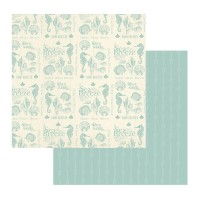 Couture Creations Sea Breeze Patterned Paper Collecting Shells