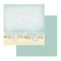 Couture Creations Sea Breeze Patterned Paper Sea Shells on a Seashore