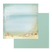 Couture Creations Sea Breeze Patterned Paper A Windy Beach