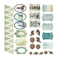 Couture Creations Sea Breeze Adhesive Chipboard