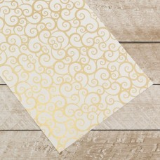 Couture Creations Special Occasions - Gold Swirls Foiled on A4 White Paper (10 Sheets)