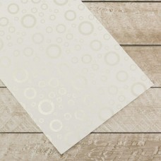 Couture Creations Special Occasions - Silver Circles Foiled on A4 White Paper (10 Sheets)