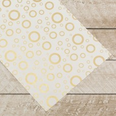 Couture Creations Special Occasions - Gold Circles Foiled on A4 White Paper (10 Sheets)