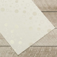 Couture Creations Special Occasions - Silver Bubbles Foiled on A4 White Paper (10 Sheets)
