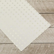 Couture Creations Special Occasions - Silver Stars Foiled on A4 White Paper (10 Sheets)