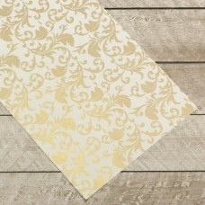Couture Creations Special Occasions - Gold Damask Foiled on A4 White Paper (10 Sheets)